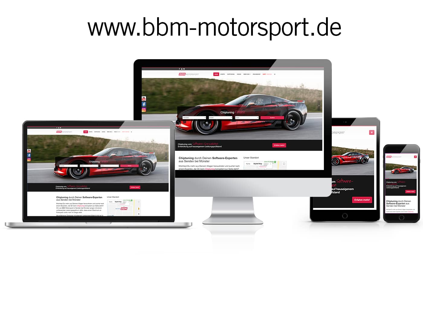 WordPress Website BBM Motorsport