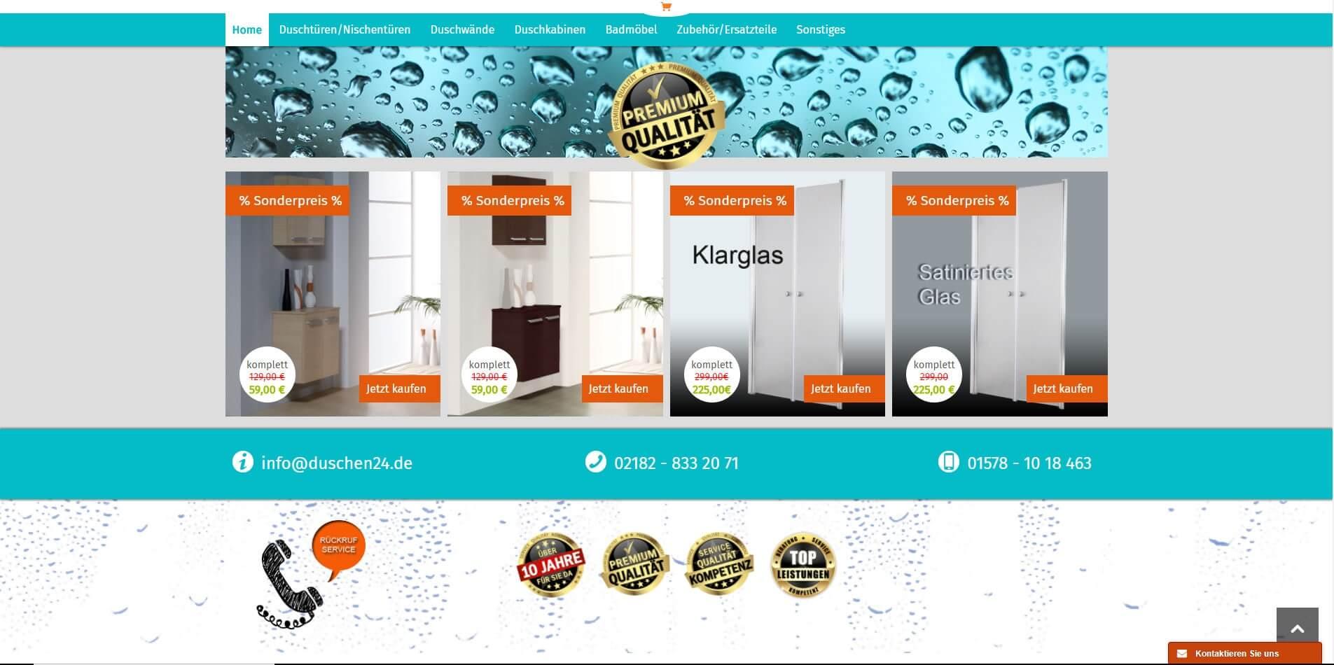 Onlineshop auf Basis von Shopware
