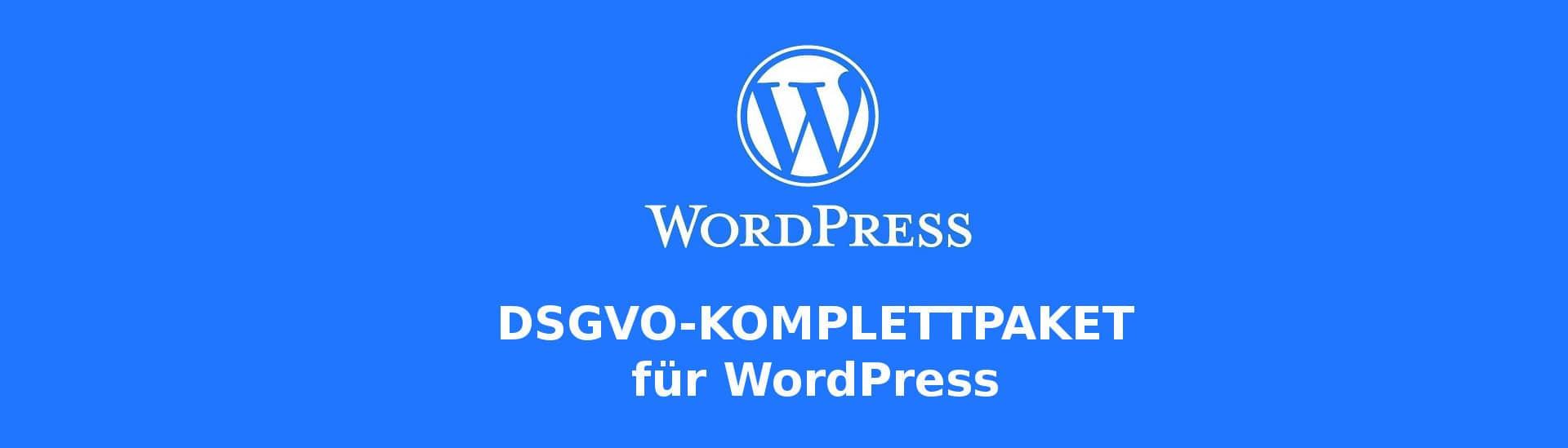 DSGVO-Komplettpaket für WordPress