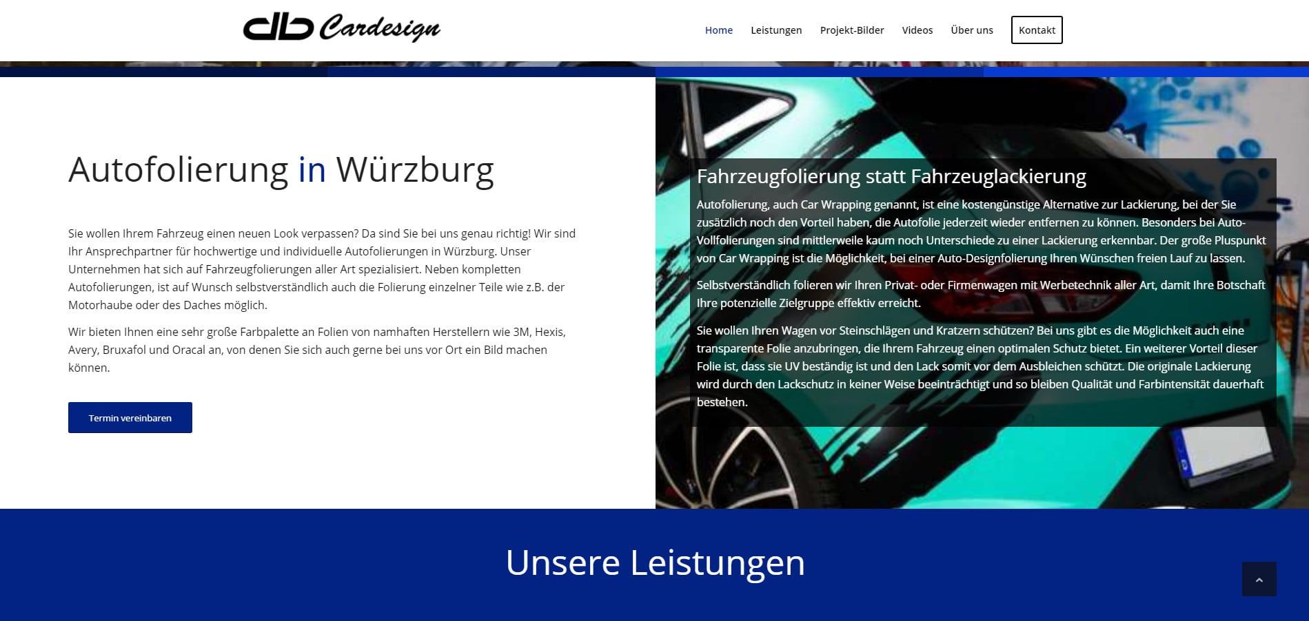 WordPress Website Erstellung db Cardesign