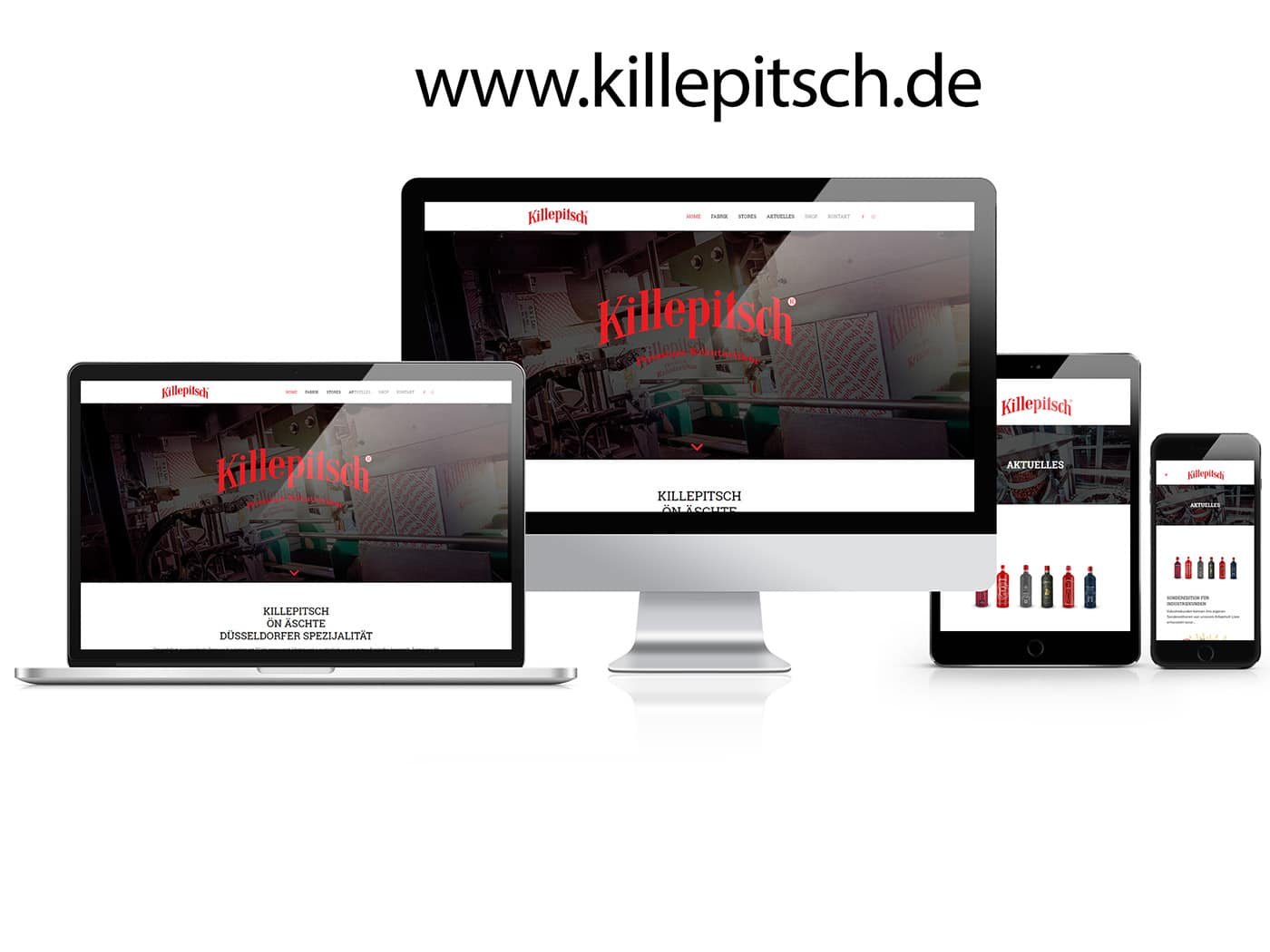 Killepitsch Homepage by die codedesigner