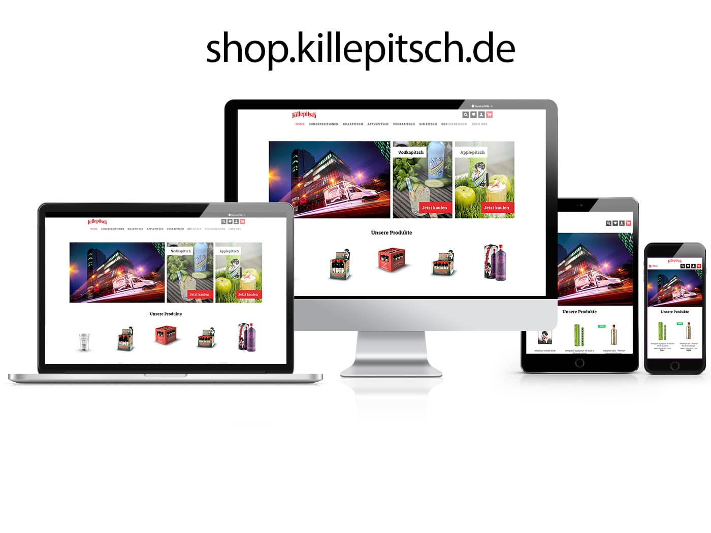 Killepitsch Onlineshop by die codedesigner