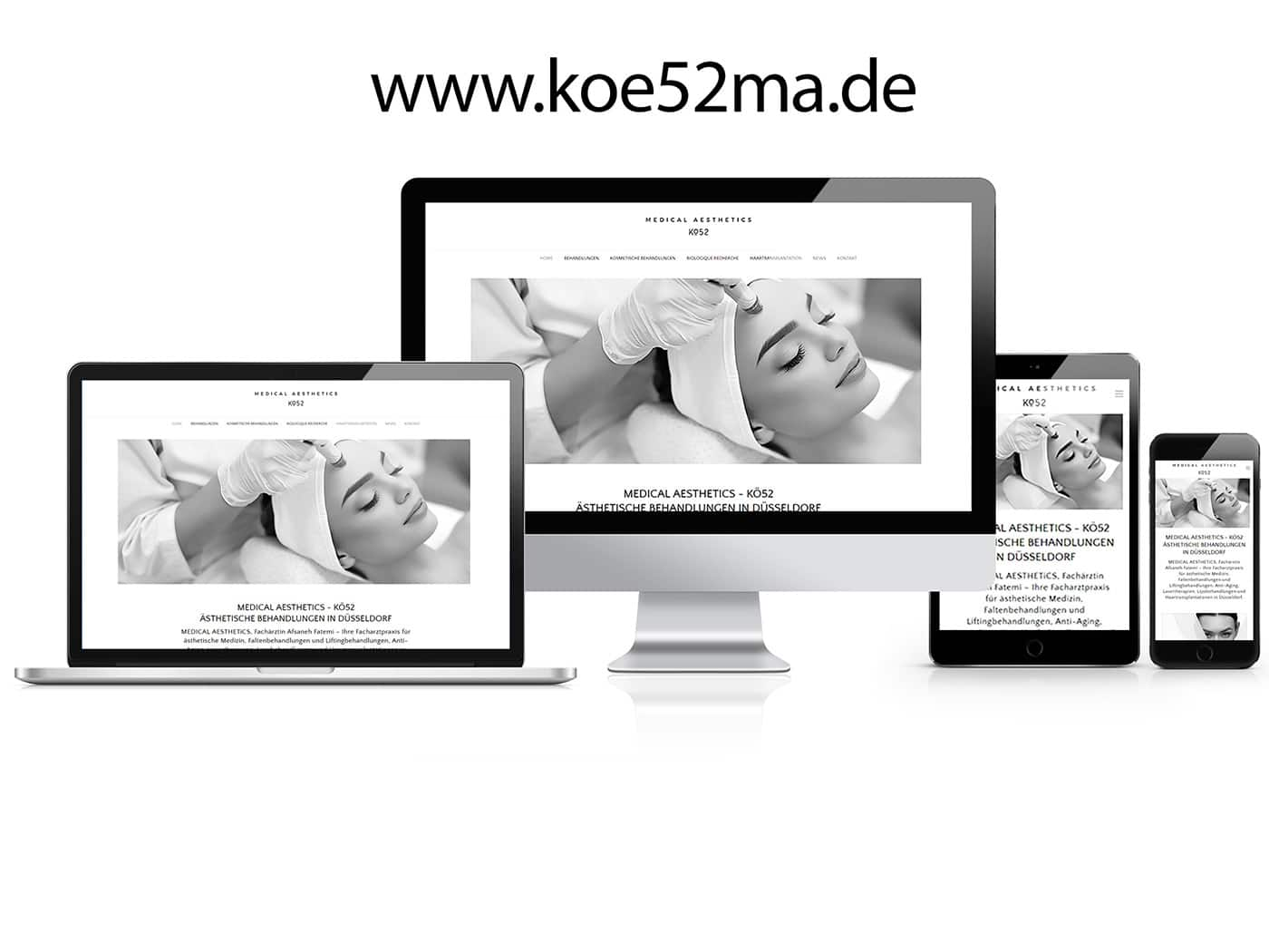 MEDICAL AESTHETICS WordPress Website by die codedesigner